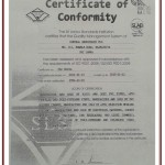 ISO 9001:2008 – Certificate of conformity