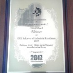 CNCI Merit Award 2017 (Extra Large Manufacturing)